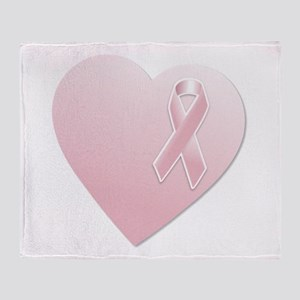 Pink Breast Cancer Ribbon and Heart Stadium Blank
