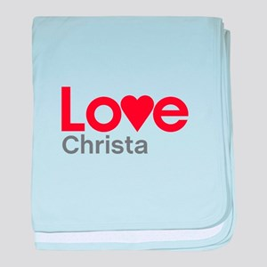 I Love Christa baby blanket