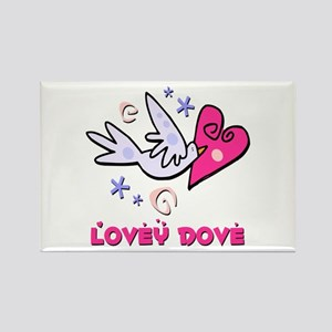 Lovey Dove Rectangle Magnet