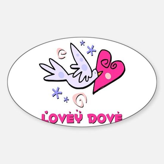 Lovey Dove Sticker (Oval)