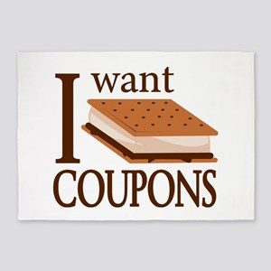 I Want Smore Coupons 5'x7'Area Rug