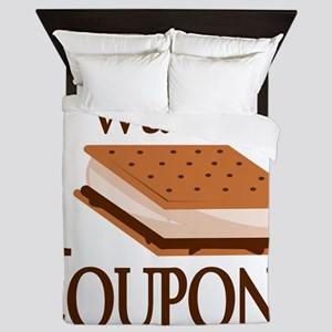 I Want Smore Coupons Queen Duvet