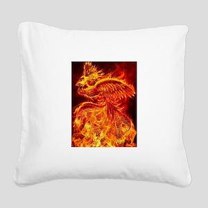Phoenix Rising Square Canvas Pillow