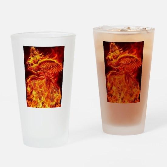 Phoenix Rising Drinking Glass