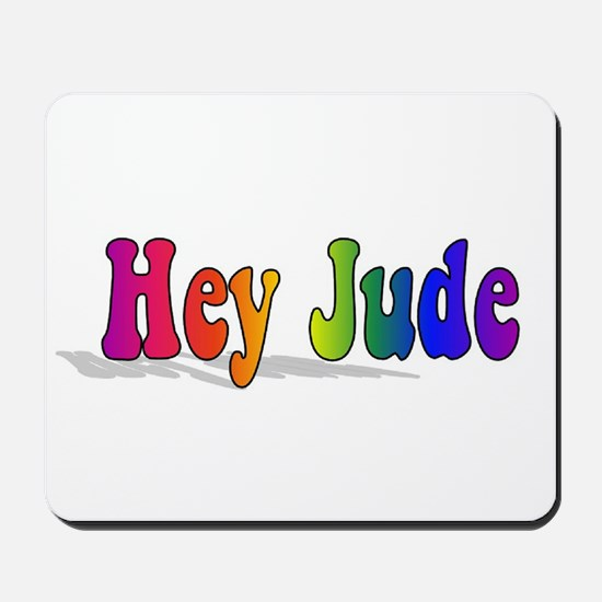 Hey Jude t-shirt front Mousepad