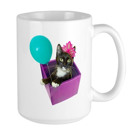 Tuxedo Cat Birthday Large Mug
