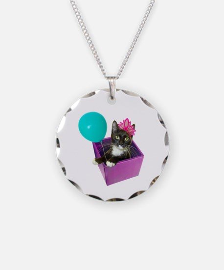 Tuxedo Cat Birthday Necklace