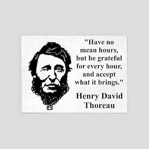 Have No Mean Hours - Thoreau 5'x7'Area Rug