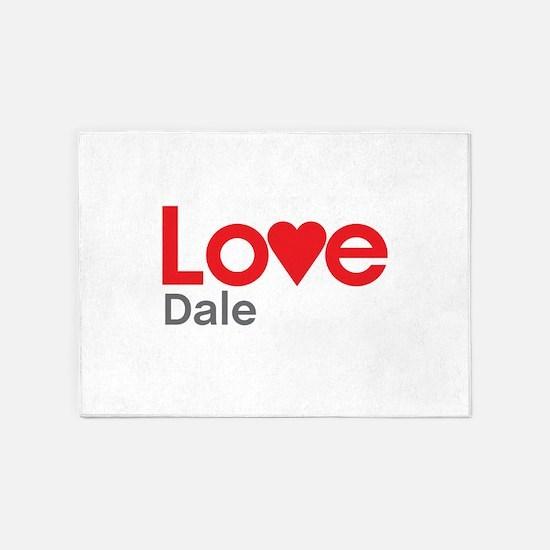 I Love Dale 5'x7'Area Rug