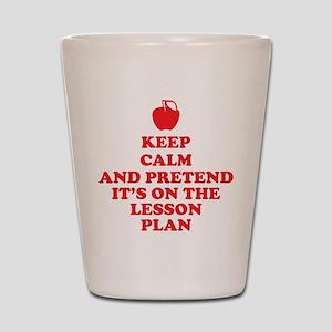 Keep Calm Teachers Shot Glass