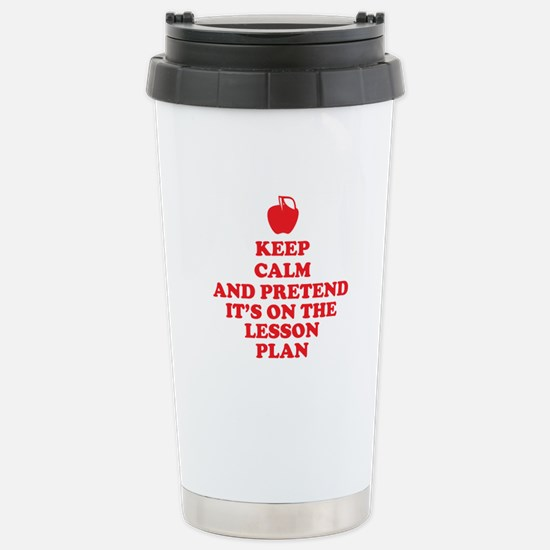 Keep Calm Teachers Travel Mug