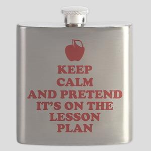 Keep Calm Teachers Flask