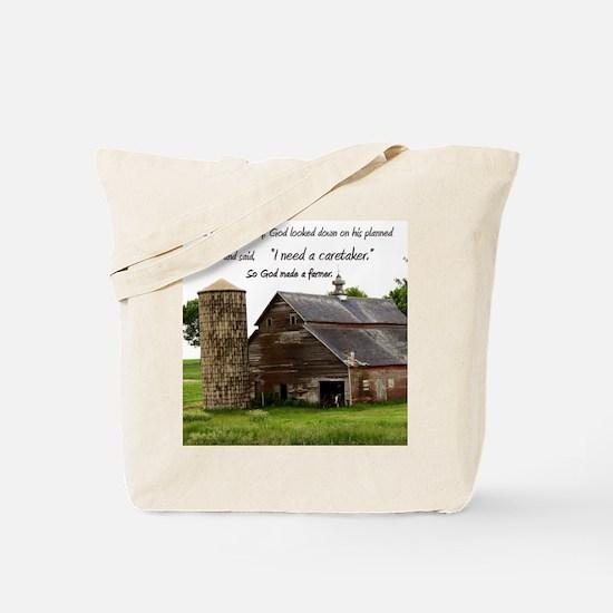 God Made a Farmer Tote Bag