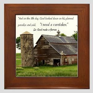 God Made a Farmer Framed Tile