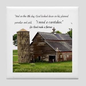 God Made a Farmer Tile Coaster
