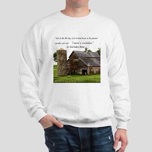 God Made a Farmer Sweatshirt