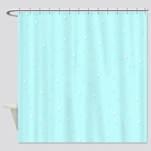 Teal Raindrops Shower Curtain
