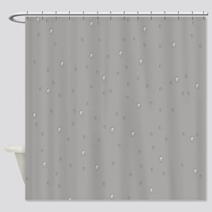 Gray Raindrops Shower Curtain
