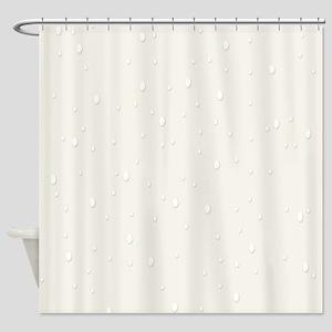 Light Beige Raindrops Shower Curtain