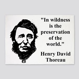 In Wildness Is The Preservation - Thoreau 5'x7'Are