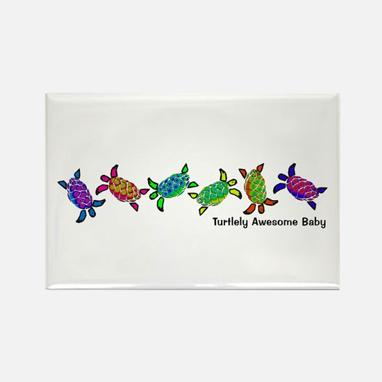 Turtlely Awesome Baby Rectangle Magnet