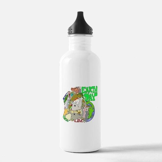 EARTH DAY LOVE Water Bottle
