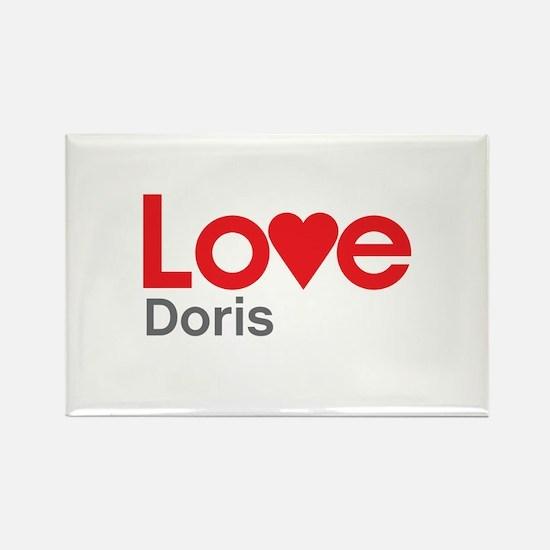 I Love Doris Rectangle Magnet