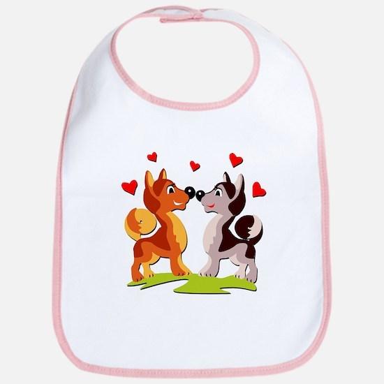 In Love Dogs Bib