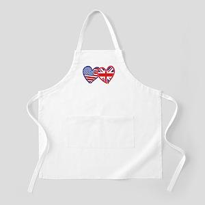 American Flag/Union Jack Flag Hearts Apron