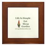 Garden Time Online Gnome Framed Tile