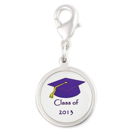 Class of 2013 Silver Round Charm Graduate Gift