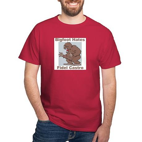 Bigfoot Hates Castro Dark T-Shirt