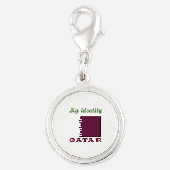 My Identity Qatar Silver Round Charm