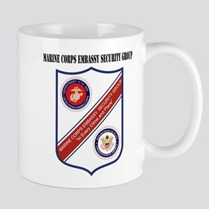 Marine Corps Embassy Security Group with Text Mug