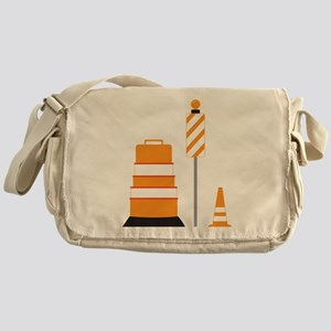 Construction Zone Messenger Bag