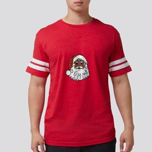 black santa claus Mens Football Shirt