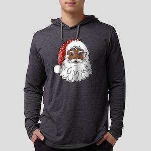 black santa claus Mens Hooded Shirt