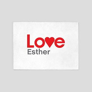 I Love Esther 5'x7'Area Rug