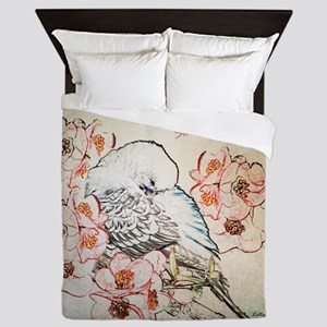 Parakeet Sweet Dreams Queen Duvet Cover