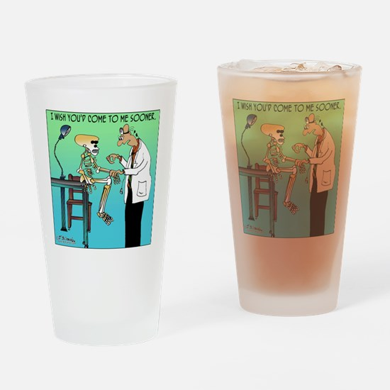 Funny Doctor Drinking Glass