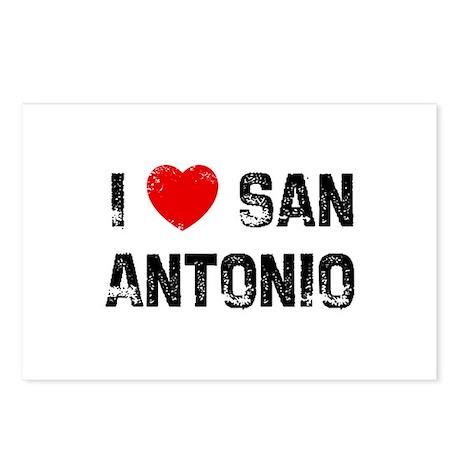 I * San Antonio Postcards (Package of 8)