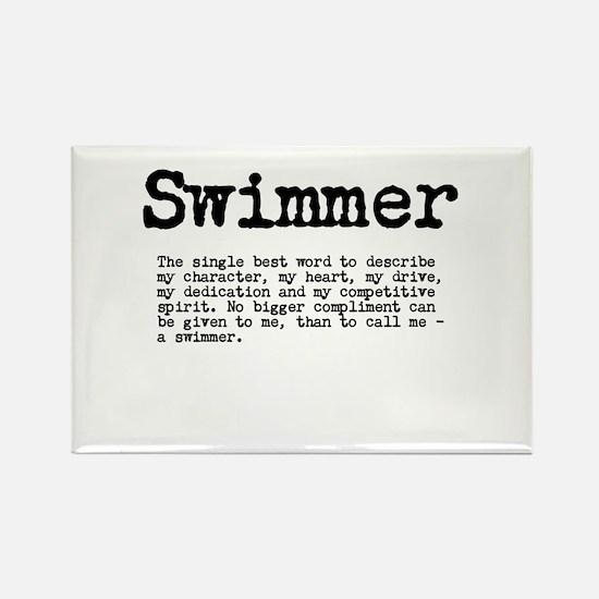 Swimmer Rectangle Magnet