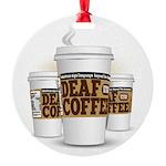 Deaf Coffee Ornament
