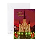 New Orleans Cathedral at Night Cards (6)