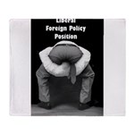 Liberal Foreign Policy Throw Blanket