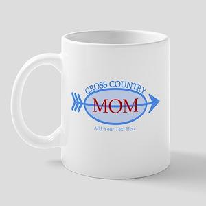 Cross Country Mom Blue Text Mug