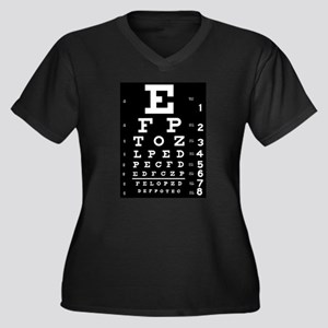 Eye chart gift Women's Plus Size V-Neck Dark T-Shi
