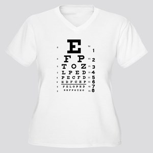Eye chart gift Women's Plus Size V-Neck T-Shirt