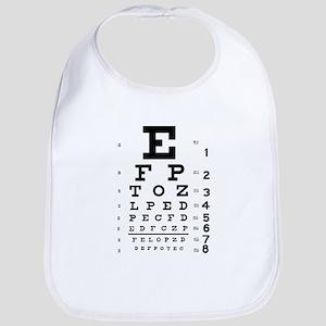 Eye chart gift Bib