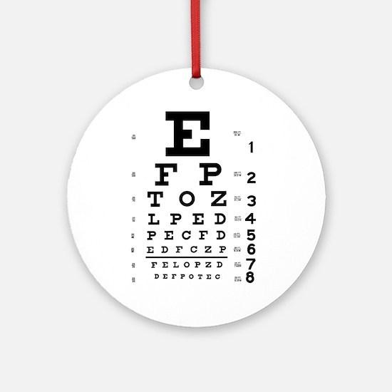 Eye chart gift Ornament (Round)